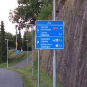 17. Länsiväylän opasteet, Espoo