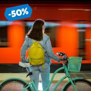 24. Pyörän kuljetus metrossa tai lähijunassa – hyödynnä 50 %:n alennus